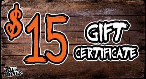 15 gift certificate