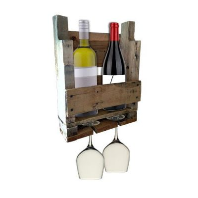 two bottle pallet wine rack