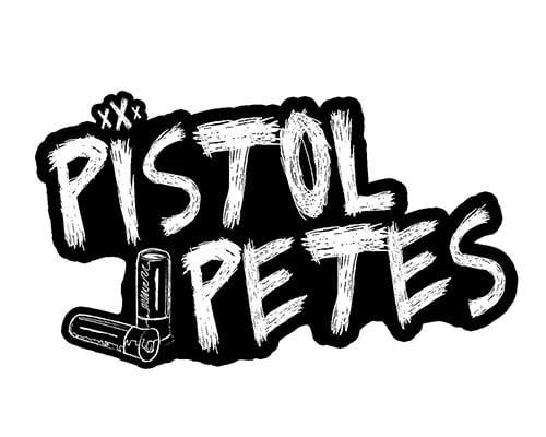 pistol petes logo sticker