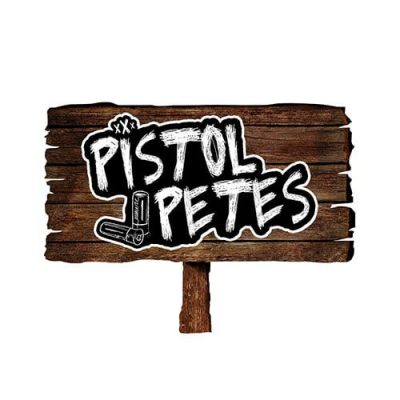 pistol petes yard sign sticker