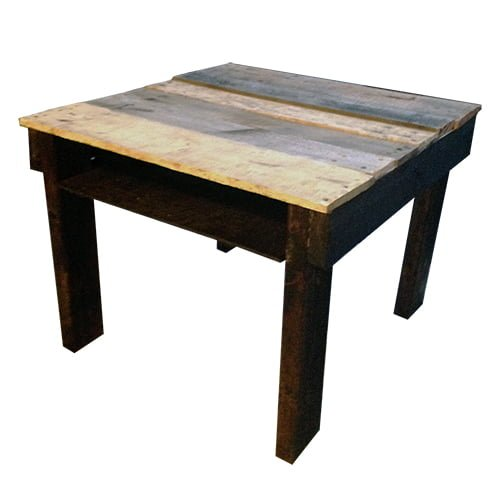 Wood Pallet End Table Nightstand