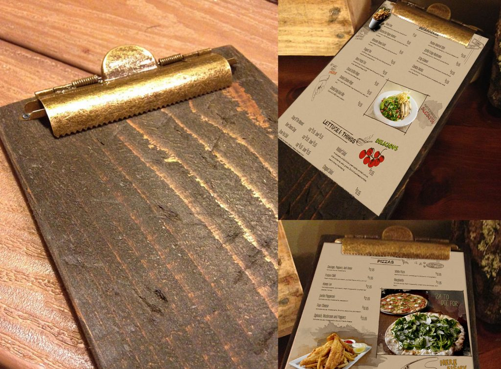 Restaurant Menu Clipboards Pistol Petes