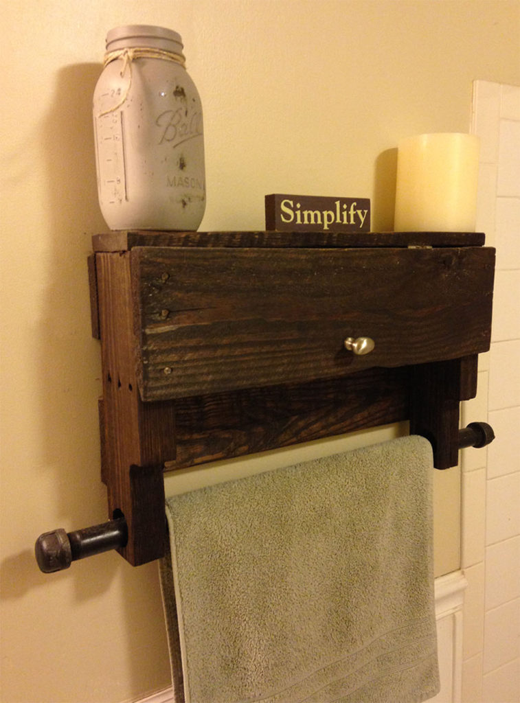 Pallet Towel Rack Shelf Pistol Pete S