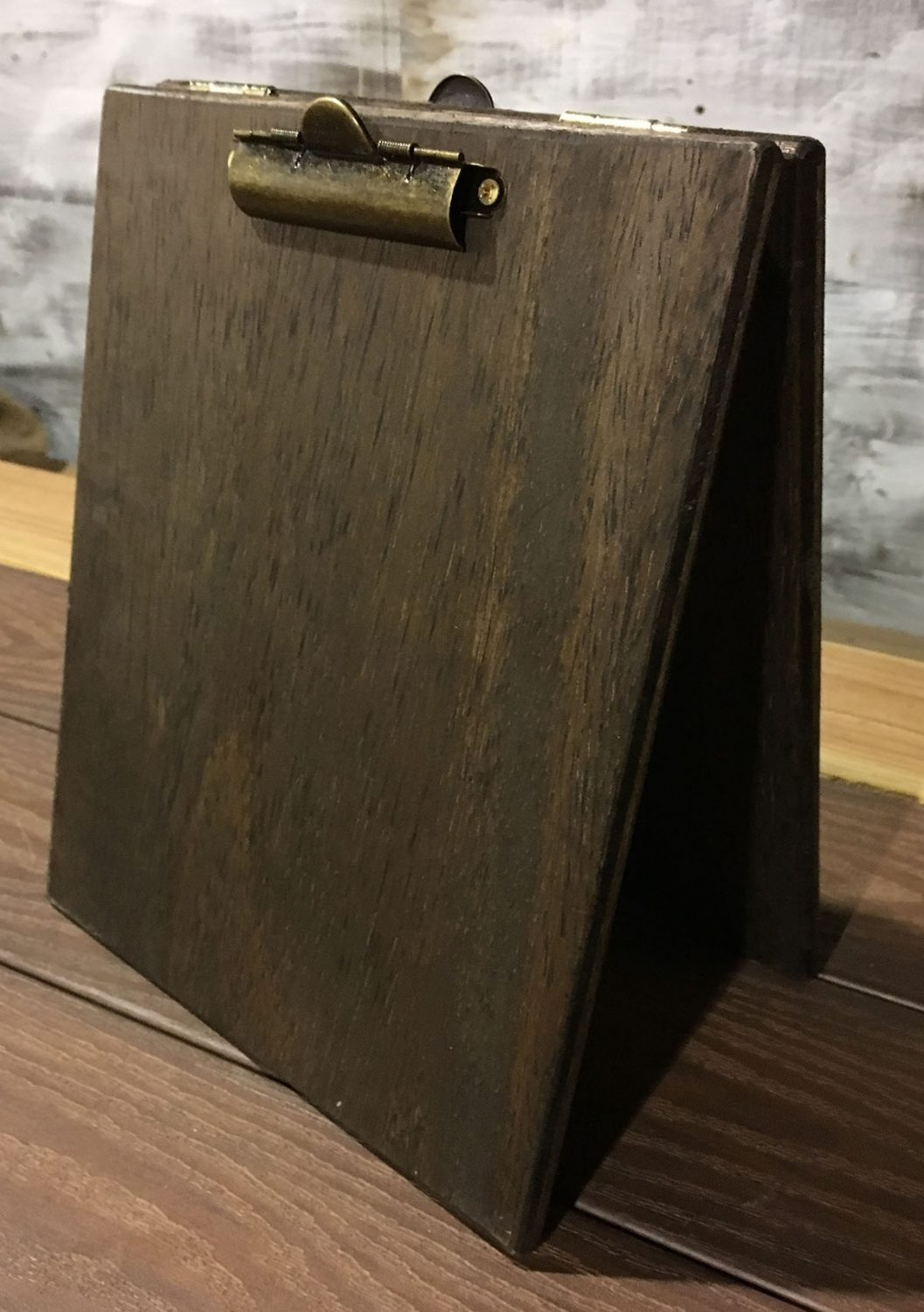 Large Wood Table Tent Clipboard Pistol Pete 39 S