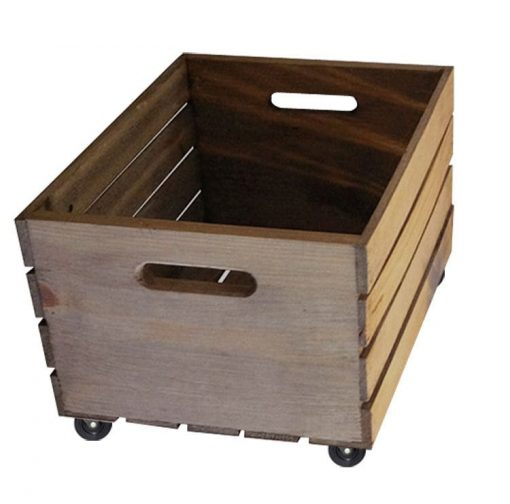 Crate with casters