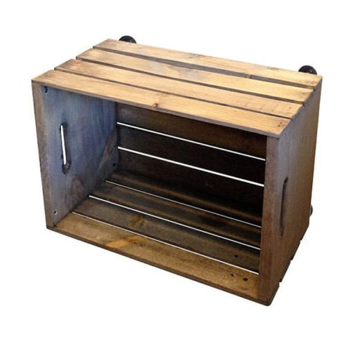 Crate with Rustic Wheels